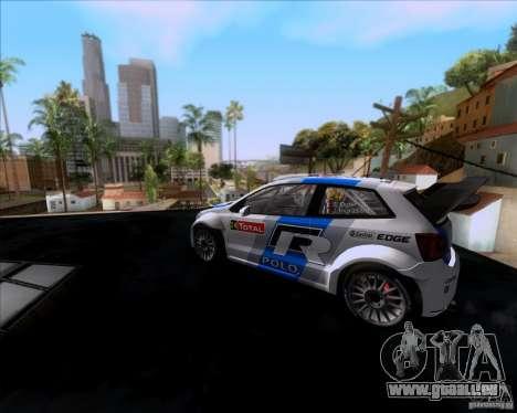Volkswagen Polo WRC pour GTA San Andreas sur la vue arrière gauche