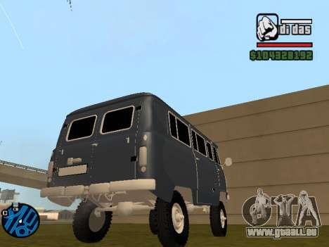 UAZ 2206 BPAN pour GTA San Andreas laissé vue