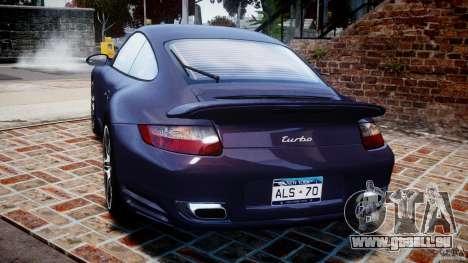 Porsche 911 (997) Turbo v1.1 [EPM] pour GTA 4 Vue arrière de la gauche