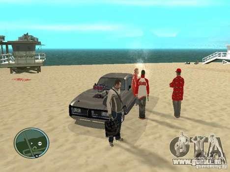 Pedy avec sacs et téléphones pour GTA San Andreas troisième écran