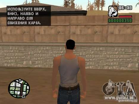 Skin pour CJ-Cool mec pour GTA San Andreas deuxième écran