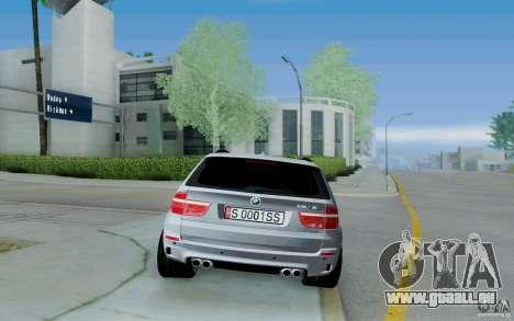 BMW X5M E70 pour GTA San Andreas vue de droite