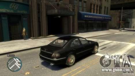 Mercedes-Benz E55 W211 pour GTA 4 est un droit