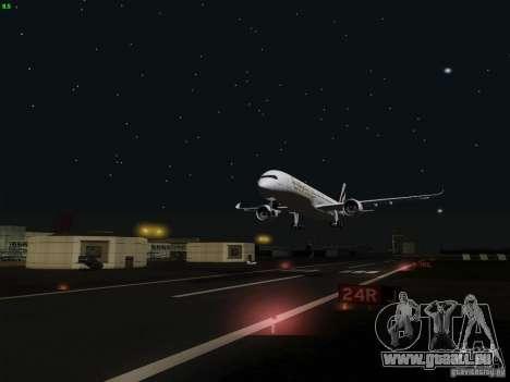 Airbus A350-900 Emirates pour GTA San Andreas vue de côté