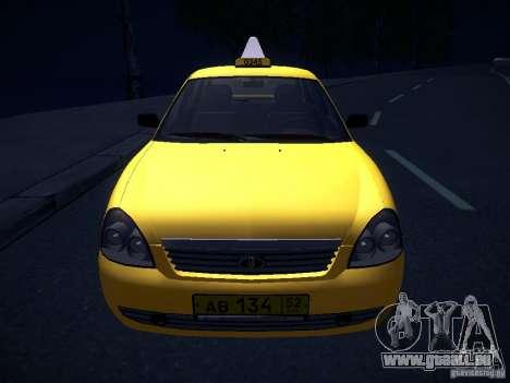 LADA Priora 2170 Taxi TMK Afterburner pour GTA San Andreas vue de dessus