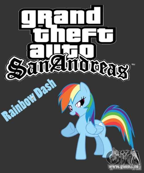 Rainbow Dash Skin für GTA San Andreas