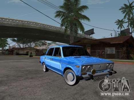VAZ 2106 rétro V2 pour GTA San Andreas vue arrière