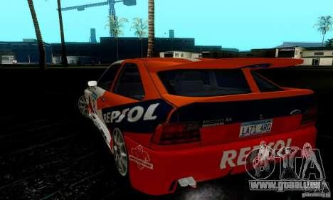 Ford Escort RS Cosworth für GTA San Andreas Innenansicht