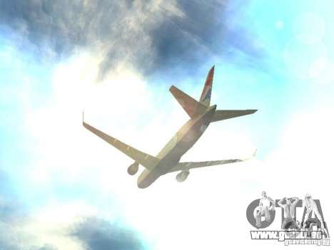 Boeing 767-300 British Airways für GTA San Andreas obere Ansicht