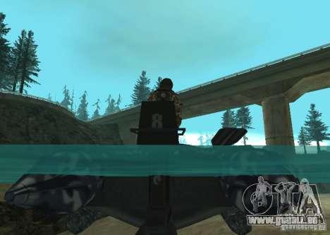 Zodiac-Schlauchboot für GTA San Andreas rechten Ansicht