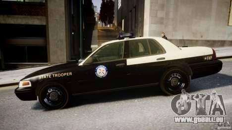Ford Crown Victoria Fl Highway Patrol Units ELS pour GTA 4 est une gauche
