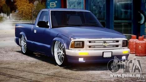 Chevrolet S10 1996 Draggin [Beta] für GTA 4 Rückansicht