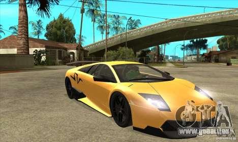Lamborghini Murcielago LP 670 SV pour GTA San Andreas vue arrière
