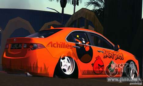Honda Accord Angry Birds pour GTA San Andreas vue arrière