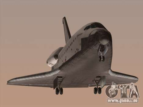 Space Shuttle für GTA San Andreas linke Ansicht