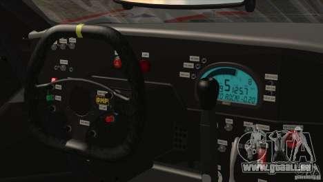 Ford GT Matech GT3 Series pour GTA San Andreas vue de dessous