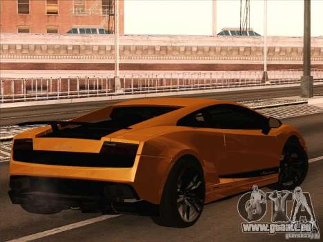 Lamborghini Gallardo Superleggera pour GTA San Andreas laissé vue