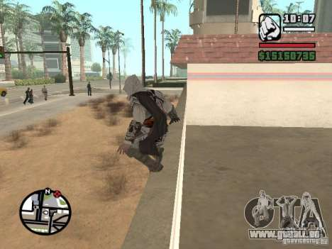 La capacité de l'Assassin ' s Creed pour GTA San Andreas quatrième écran