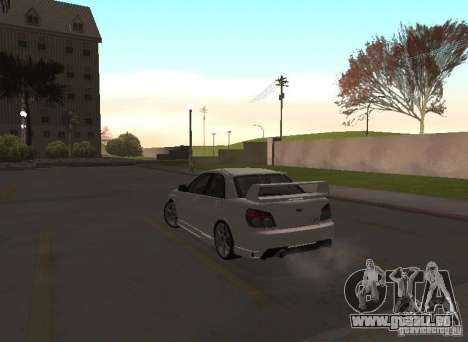 Subaru Impreza WRX STI-Street Racing pour GTA San Andreas vue de dessous