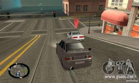 Courses de rue pour GTA San Andreas deuxième écran