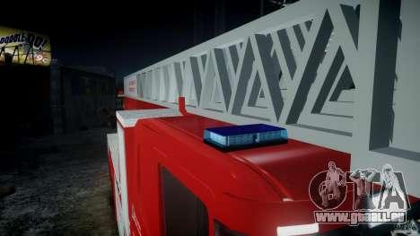 Scania Fire Ladder v1.1 Emerglights blue-red ELS pour GTA 4 est une gauche