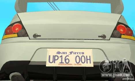 Mitsubishi Lancer Evolution IX für GTA San Andreas obere Ansicht