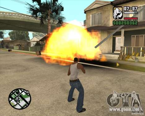 Souffle (version pour les ordinateurs portables  pour GTA San Andreas troisième écran