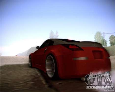 Nissan 350Z AdHoc pour GTA San Andreas vue de droite