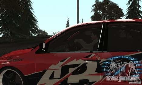 Mitsubishi Lancer IX APR pour GTA San Andreas sur la vue arrière gauche