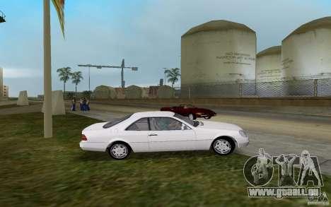 Mercedes-Benz 600SEC (C140) 1992 für GTA Vice City linke Ansicht