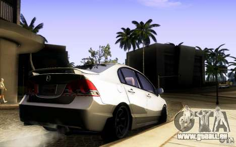 Honda Civic FD BlueKun für GTA San Andreas Rückansicht