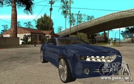 Chevrolet Camaro Concept Tunable pour GTA San Andreas vue arrière