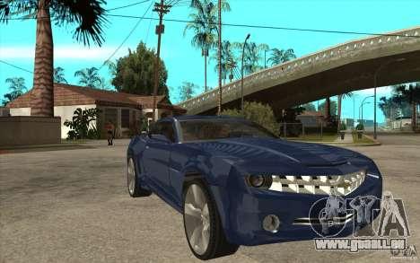 Chevrolet Camaro Concept Tunable für GTA San Andreas Rückansicht