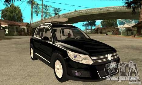 Volkswagen Tiguan 2.0 TDI 2012 pour GTA San Andreas vue de dessus