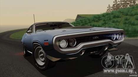 Plymouth GTX 426 HEMI 1971 für GTA San Andreas obere Ansicht