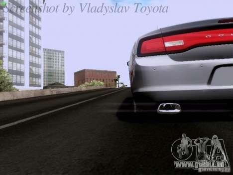 Dodge Charger 2013 pour GTA San Andreas vue de dessus