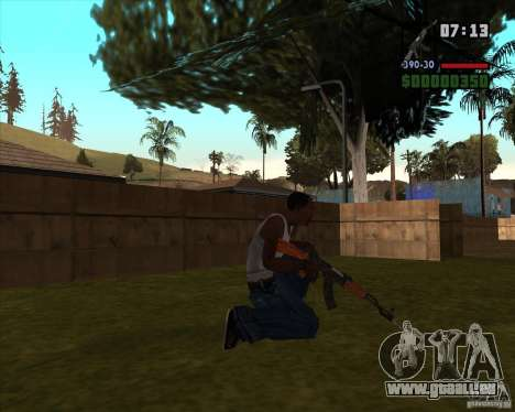 AK-47 avec baïonnette pour GTA San Andreas deuxième écran