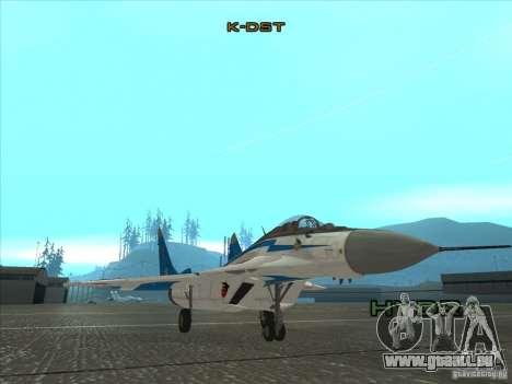 MiG-29 der Mauersegler für GTA San Andreas linke Ansicht