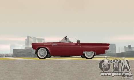 Ford Thunderbird 1957 für GTA San Andreas Rückansicht
