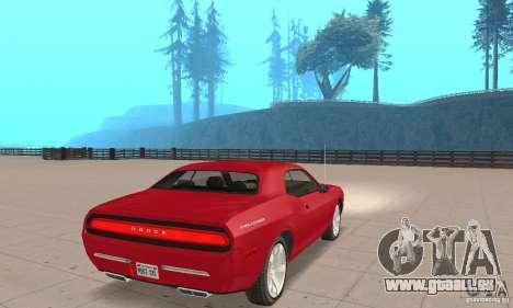 Dodge Challenger 2007 pour GTA San Andreas laissé vue