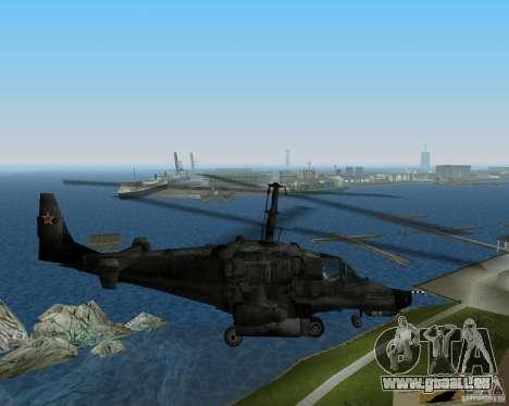 KA-50 pour GTA Vice City sur la vue arrière gauche