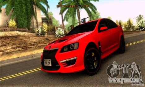 Holden HSV GTS pour GTA San Andreas laissé vue