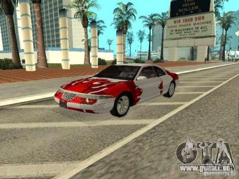 Lincoln Mark VIII 1996 pour GTA San Andreas vue de côté