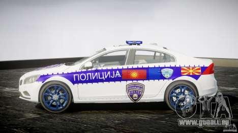 Volvo S60 Macedonian Police [ELS] pour GTA 4 est une gauche