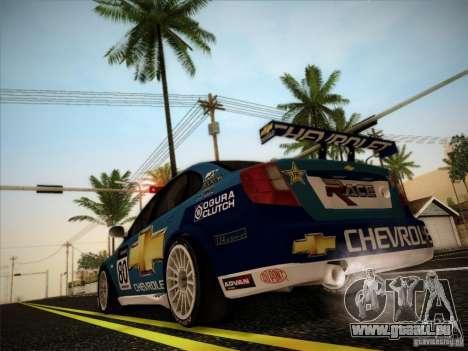 Chevrolet Lacetti WTCC v2 pour GTA San Andreas vue arrière