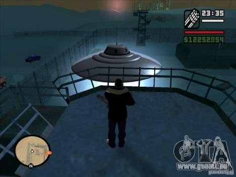Geheimnisvolle UFOs in der Area 51 für GTA San Andreas