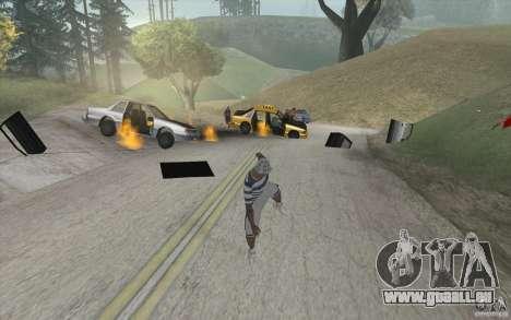 Vague de feu pour GTA San Andreas deuxième écran