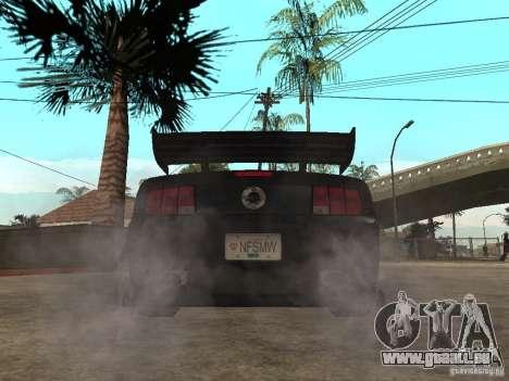 Ford Mustang GT Razor NFS MW pour GTA San Andreas sur la vue arrière gauche