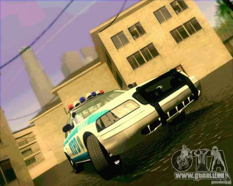 Ford Crown Victoria 2003 NYPD police V2.0 für GTA San Andreas Rückansicht