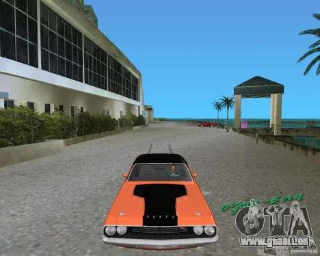 1970 Dodge Challenger R/T Hemi pour une vue GTA Vice City de la gauche